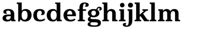 Haboro Serif Normal Extra Bold Font LOWERCASE