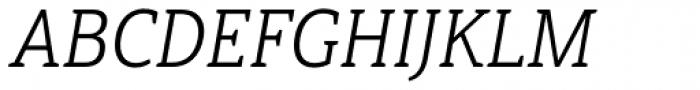 Haboro Slab Condensed Book Italic Font UPPERCASE