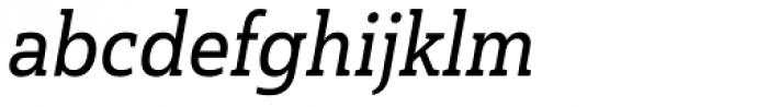 Haboro Slab Condensed Demi Italic Font LOWERCASE