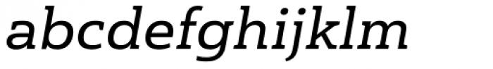 Haboro Slab Extended Demi Italic Font LOWERCASE