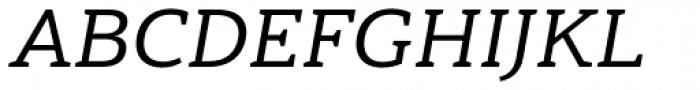 Haboro Slab Extended Medium Italic Font UPPERCASE