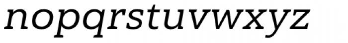 Haboro Slab Extended Medium Italic Font LOWERCASE
