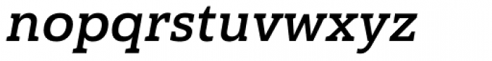 Haboro Slab Normal Bold Italic Font LOWERCASE
