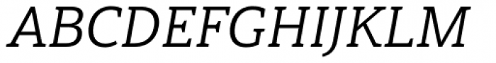 Haboro Slab Normal Regular Italic Font UPPERCASE