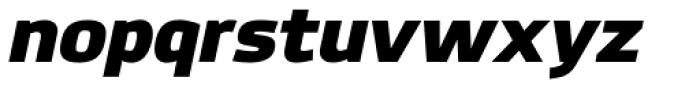 Hackman Black Italic Font LOWERCASE
