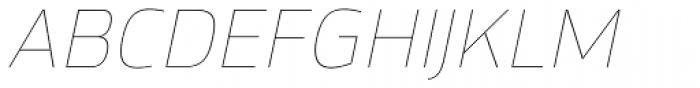 Hackman Thin Italic Font UPPERCASE