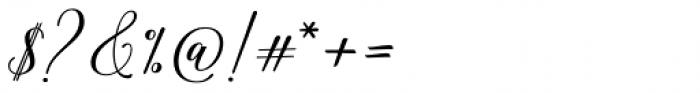 Hadhelia Script Regular Font OTHER CHARS