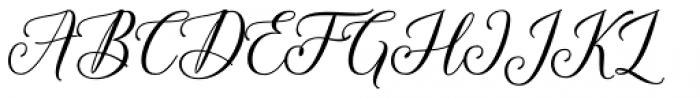 Hadhelia Script Regular Font UPPERCASE