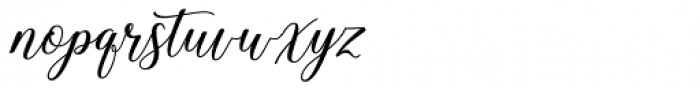Hadhelia Script Regular Font LOWERCASE