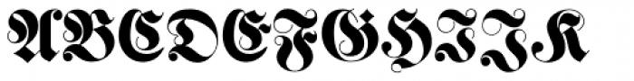 Haenel Fraktur Font UPPERCASE