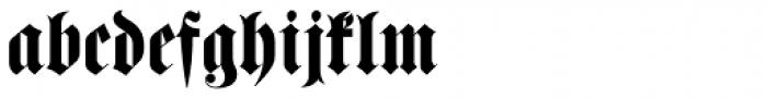 Haenel Fraktur Font LOWERCASE