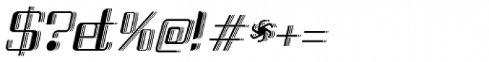 Haike 3D Italic Font OTHER CHARS