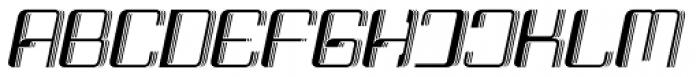 Haike 3D Italic Font UPPERCASE