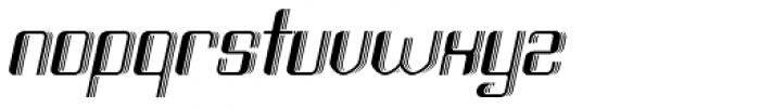 Haike 3D Italic Font LOWERCASE