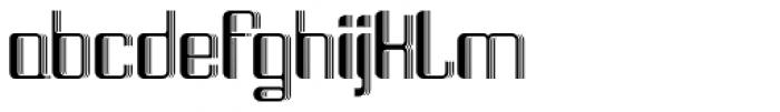 Haike 3D Font LOWERCASE