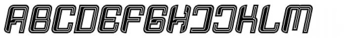 Haike College Italic Font UPPERCASE