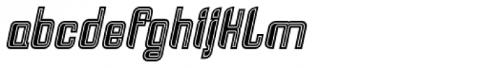 Haike College Italic Font LOWERCASE