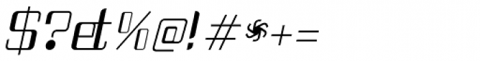 Haike Italic Font OTHER CHARS
