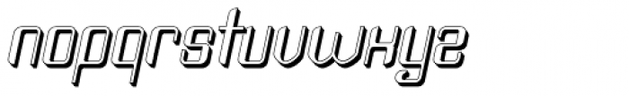 Haike Plastik Italic Font LOWERCASE