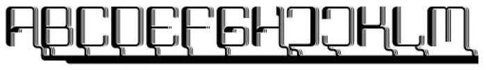 Haike Reg Alt Caps 3D Font LOWERCASE