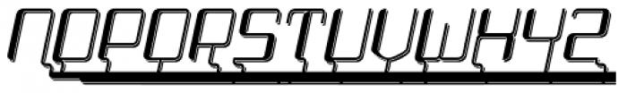 Haike Shadow Alt Caps Italic Font LOWERCASE