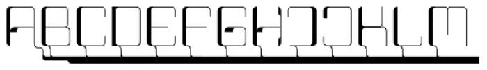 Haike Thin Alt Caps Font UPPERCASE