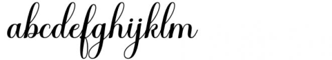 Haileyna Regular Font LOWERCASE