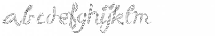 Hair Font LOWERCASE