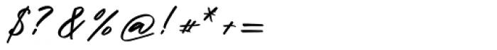 Halbrein Regular Font OTHER CHARS