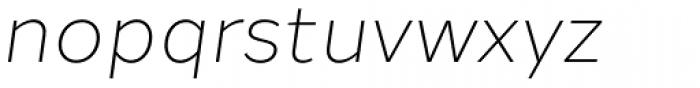 Halcom Light Italic Font LOWERCASE