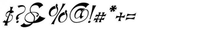 Haldane Italic Font OTHER CHARS