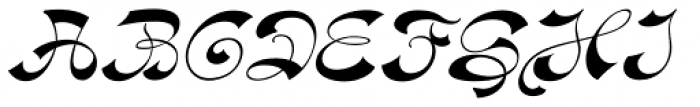 Haldane Italic Font UPPERCASE