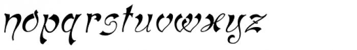 Haldane Italic Font LOWERCASE