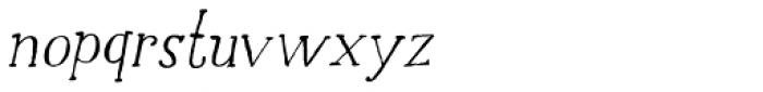 Halewyn Italic Font LOWERCASE