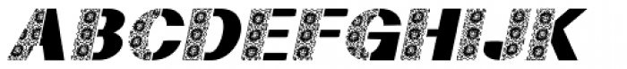 Half Flower1 Italic Font UPPERCASE