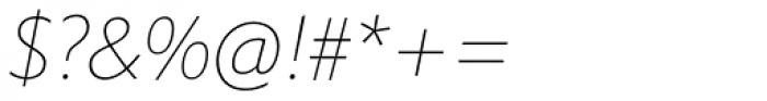 Halifax Thin Italic Font OTHER CHARS