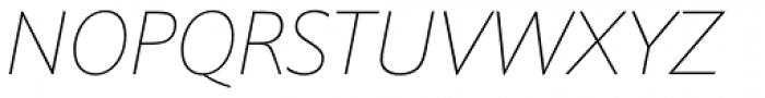 Halifax Thin Italic Font UPPERCASE