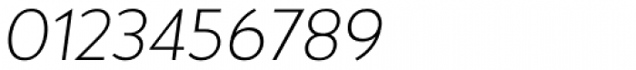 Halis Grotesque ExtraLight Italic Font OTHER CHARS