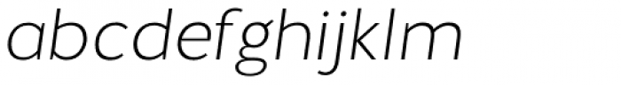 Halis Grotesque ExtraLight Italic Font LOWERCASE