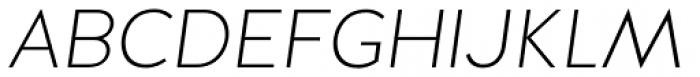 Halis Grotesque SC ExtraLight Italic Font UPPERCASE