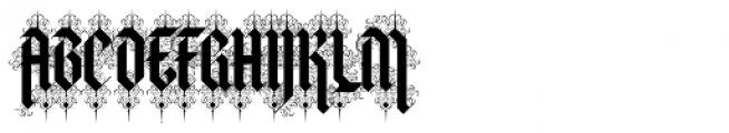 Halja Illuminated Font UPPERCASE