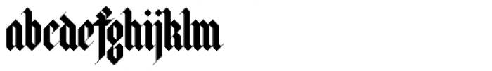 Halja Illuminated Font LOWERCASE
