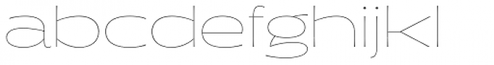 Halogen Flare Hairline Font LOWERCASE