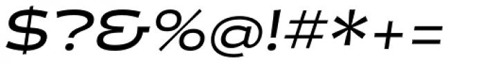 Halogen Flare Medium Oblique Font OTHER CHARS