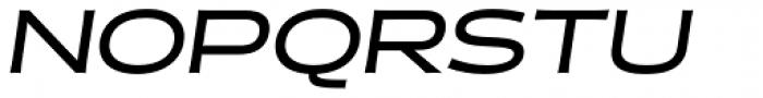 Halogen Flare Medium Oblique Font UPPERCASE