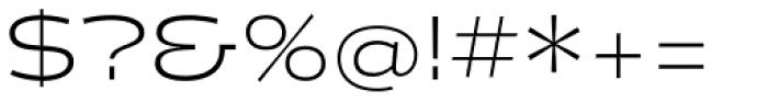 Halogen Light Font OTHER CHARS