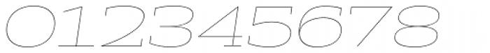 Halogen Slab Hairline Oblique Font OTHER CHARS