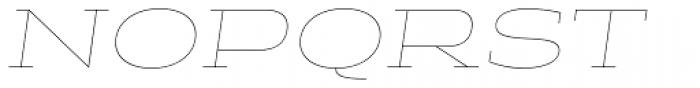 Halogen Slab Hairline Oblique Font UPPERCASE