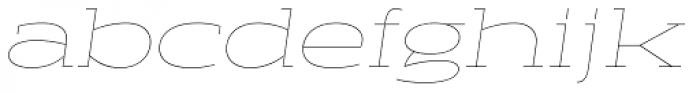 Halogen Slab Hairline Oblique Font LOWERCASE