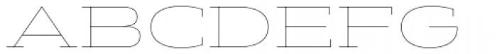 Halogen Slab Hairline Font UPPERCASE
